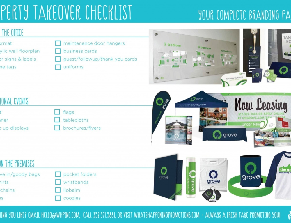 Property takeover checklist